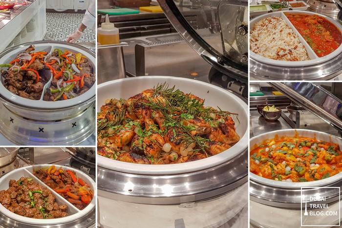 main course dishes at al dawaar restaurant