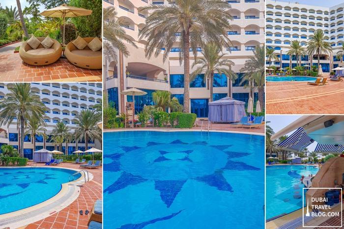 swimming pool at ajman hotel