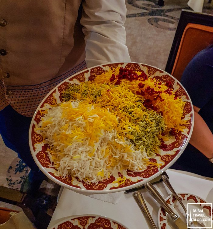 Persian restaurant rice shabestan