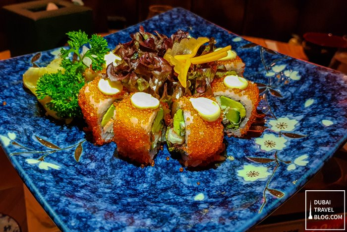 california maki roll sushi kimuraya dubai