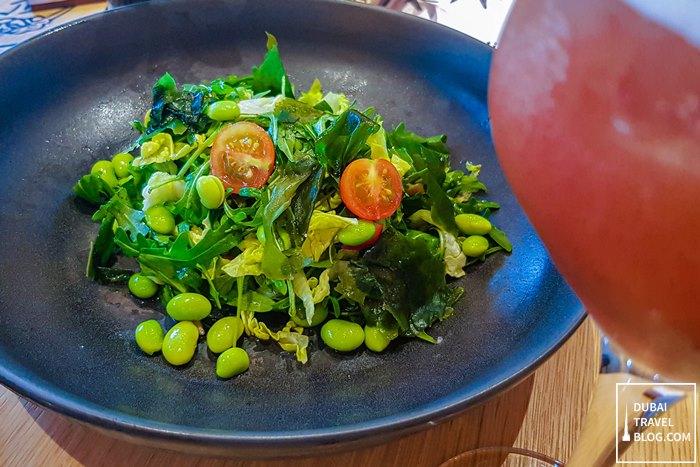 sizzling wok yasai salad