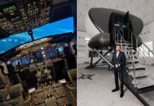 TFT Aero Flight Simulator experience Dubai