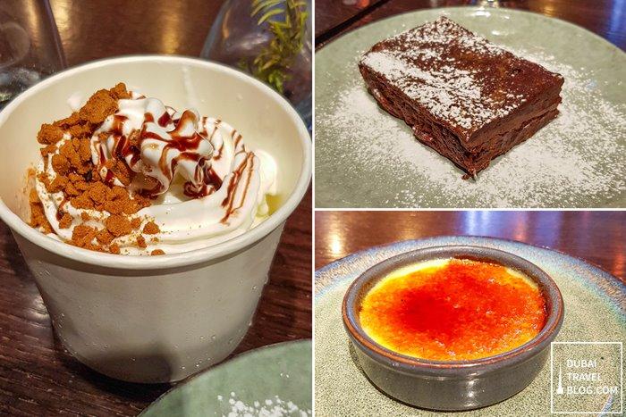 desserts at andes dubai dwtc