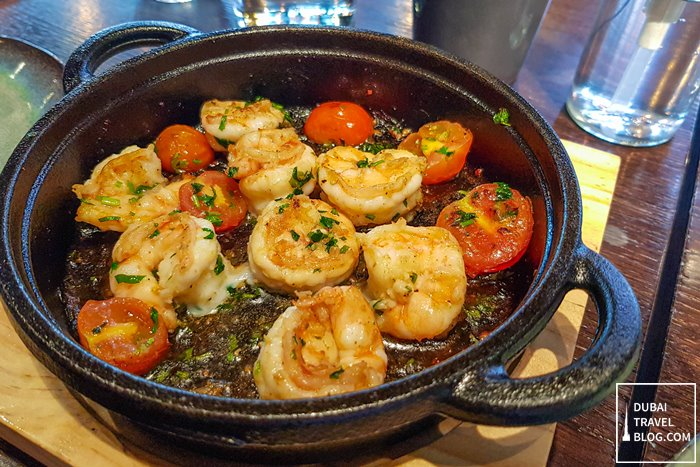 sizzling prawns Andes