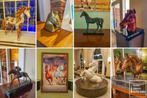 horse equestrian sculptures dubai habtoor polo