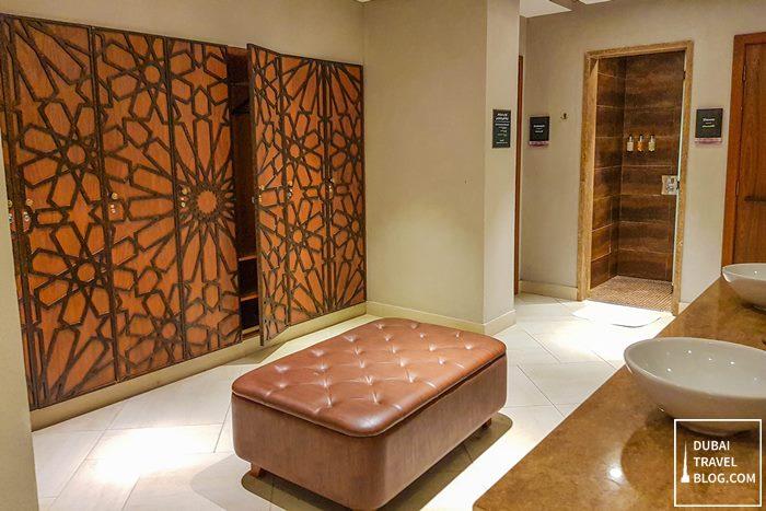 men's changing room spa habtoor polo resort