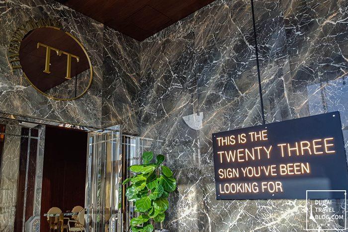 twenty three bar entrance