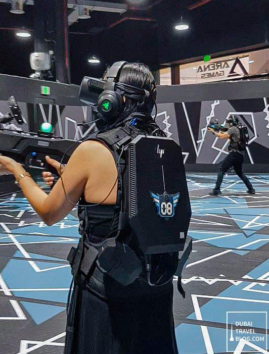 arena games virtual reality game center in dubai