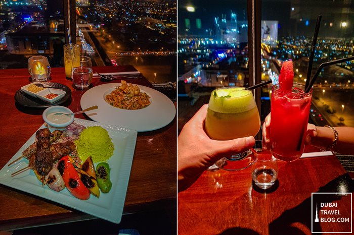 dining at Kris With A View restaurant dubai