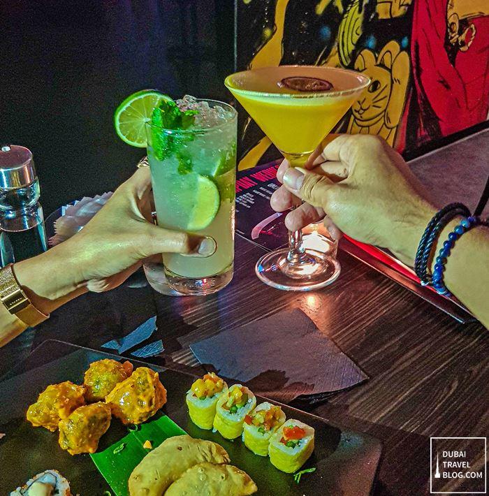 drinks at nara pan asian wednesday brunch