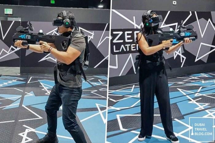 virtual reality game at difc arena games dubai