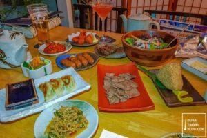 dinner at kimura ya marina habtoor grand resort